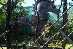 Кованое панно Морские коньки